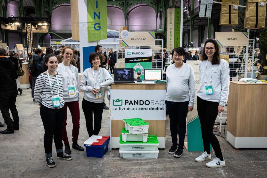 Pandobac est une solution permettant aux professionnels de passer facilement des emballages jetables aux emballages réutilisables